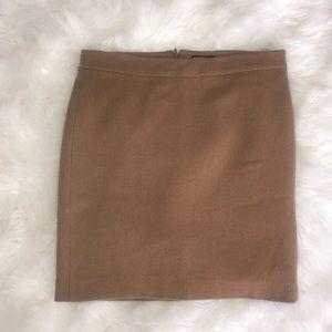 J. Crew Mercantile Camel Wool Blend Pencil Skirt 8